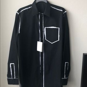 Givenchy button down collared shirt